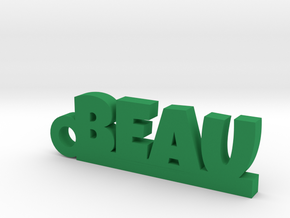 BEAU Keychain Lucky in Green Strong & Flexible Polished