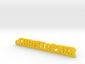 CHRISTOPHER Keychain Lucky in Yellow Processed Versatile Plastic