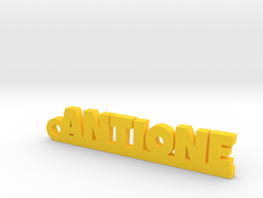 ANTIONE Keychain Lucky in Yellow Processed Versatile Plastic