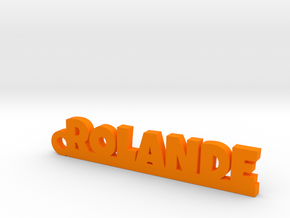 ROLANDE Keychain Lucky in Orange Processed Versatile Plastic