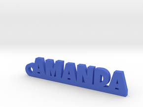 AMANDA Keychain Lucky in Blue Strong & Flexible Polished