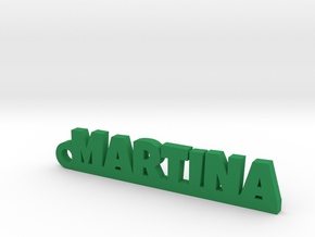 MARTINA Keychain Lucky in Green Processed Versatile Plastic