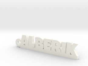 ALBERIK Keychain Lucky in White Strong & Flexible Polished