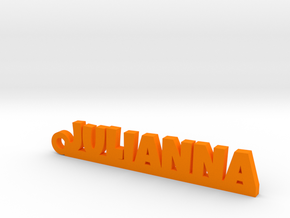 JULIANNA Keychain Lucky in Orange Processed Versatile Plastic