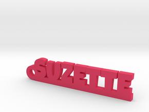 SUZETTE Keychain Lucky in Pink Processed Versatile Plastic