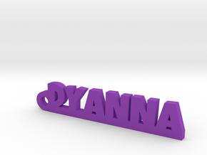 DYANNA Keychain Lucky in Purple Strong & Flexible Polished