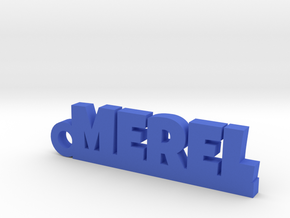 MEREL Keychain Lucky in Blue Processed Versatile Plastic