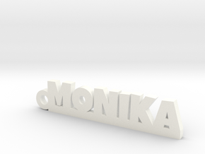 MONIKA Keychain Lucky in White Strong & Flexible Polished