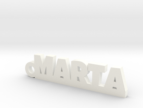 MARTA Keychain Lucky in White Strong & Flexible Polished