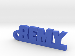 REMY Keychain Lucky in Blue Strong & Flexible Polished