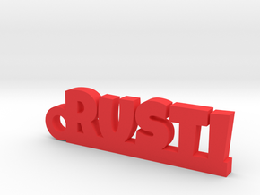 RUSTI Keychain Lucky in Red Processed Versatile Plastic