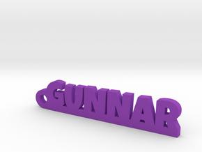 GUNNAR Keychain Lucky in Purple Processed Versatile Plastic