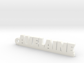 AVELAINE Keychain Lucky in White Processed Versatile Plastic