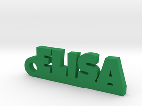ELISA Keychain Lucky in Green Processed Versatile Plastic