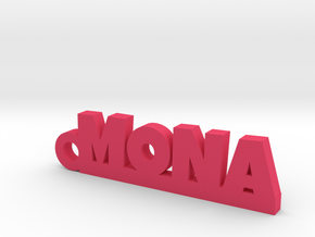 MONA Keychain Lucky in Pink Processed Versatile Plastic