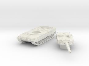 Leopard II tank (Germany) 1/144 in White Natural Versatile Plastic