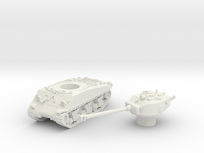 M4 Sherman Tank (Usa)  1/87 in White Natural Versatile Plastic