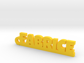 FABRICE Keychain Lucky in Yellow Processed Versatile Plastic