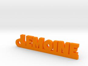 LEMOINE Keychain Lucky in Orange Processed Versatile Plastic
