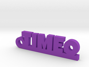 TIMEO Keychain Lucky in Purple Processed Versatile Plastic