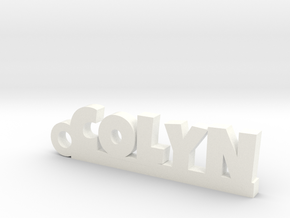 COLYN Keychain Lucky in White Strong & Flexible Polished