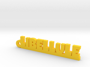 LIBELLULE Keychain Lucky in Yellow Strong & Flexible Polished