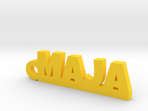 MAJA Keychain Lucky in Yellow Processed Versatile Plastic