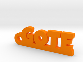 GOTE Keychain Lucky in Orange Processed Versatile Plastic