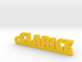 CLARICE Keychain Lucky in Yellow Processed Versatile Plastic