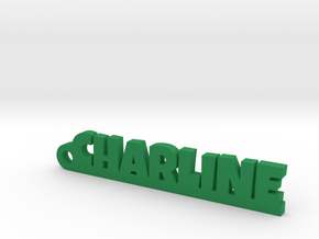CHARLINE Keychain Lucky in Green Strong & Flexible Polished