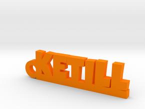 KETILL Keychain Lucky in Orange Processed Versatile Plastic