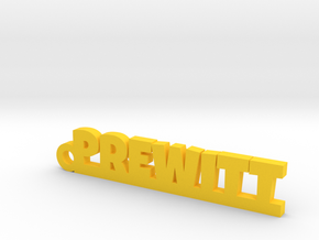 PREWITT Keychain Lucky in Yellow Processed Versatile Plastic
