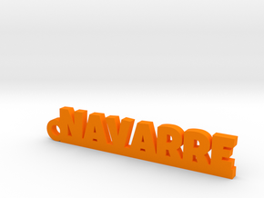 NAVARRE Keychain Lucky in Orange Processed Versatile Plastic