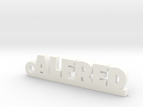 ALFRED Keychain Lucky in White Processed Versatile Plastic
