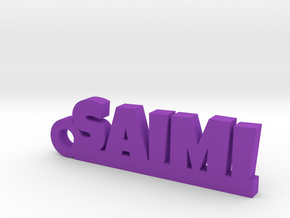 SAIMI Keychain Lucky in Purple Processed Versatile Plastic