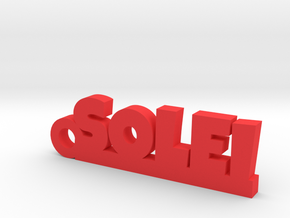 SOLEI Keychain Lucky in Red Processed Versatile Plastic