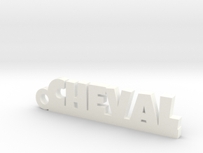 CHEVAL Keychain Lucky in White Processed Versatile Plastic