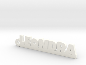 LEONDRA Keychain Lucky in White Strong & Flexible Polished