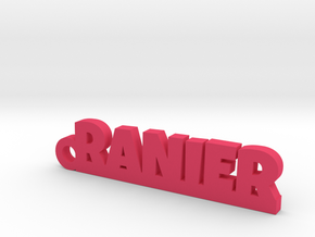 RANIER Keychain Lucky in Pink Strong & Flexible Polished
