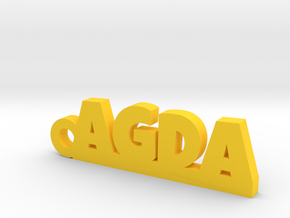 AGDA Keychain Lucky in Yellow Processed Versatile Plastic