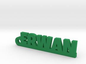 ERWAN Keychain Lucky in Green Processed Versatile Plastic