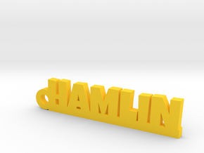 HAMLIN Keychain Lucky in Yellow Strong & Flexible Polished