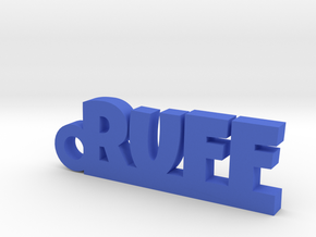 RUFF Keychain Lucky in Blue Strong & Flexible Polished