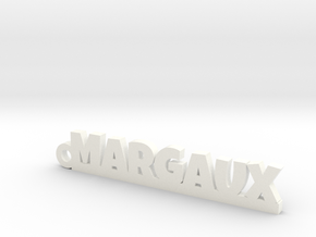 MARGAUX Keychain Lucky in White Strong & Flexible Polished