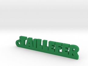 TAILLEFER Keychain Lucky in Green Strong & Flexible Polished
