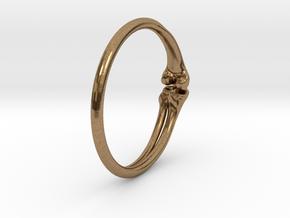 Leg Bones Ring Size 6 in Natural Brass