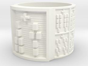 OTURAMUN Ring Size 14 in White Processed Versatile Plastic