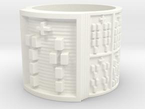 OTURASA Ring Size 11-13 in White Processed Versatile Plastic: 13 / 69