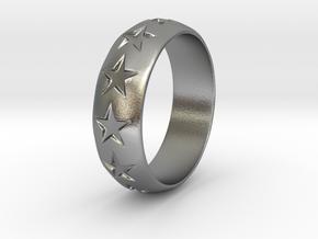 Eugen - Ring in Natural Silver: 6 / 51.5