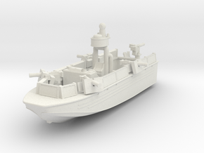 1/144 USN Riverine Assault Boat  (With guns) - Coa in White Natural Versatile Plastic